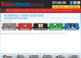 bensonhondaservice.com