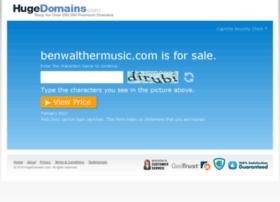 benwalthermusic.com