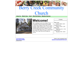berrycreekcommunitychurch.com