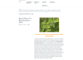 bestplacetobuykratom.wordpress.com
