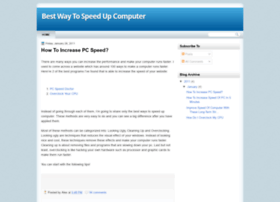 bestwaytospeedupcomputer.blogspot.in