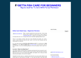bettafishcareforbegginers.blogspot.com