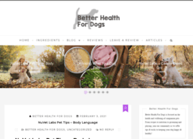 betterhealthfordogs.com