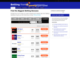 online betting promotions
