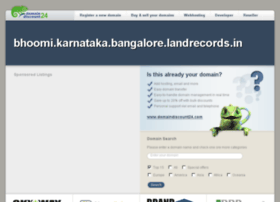 bhoomi.karnataka.bangalore.landrecords.in