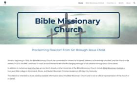 biblemissionarychurch.org