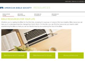 bibleresources.americanbible.org