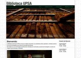 biblioteca.upsa.edu.bo