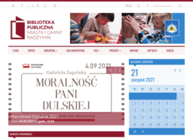 bibliotekaradzymin.pl