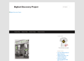 bigfootdiscoveryproject.com