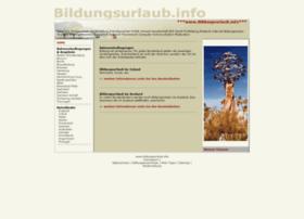 bildungsurlaub.info