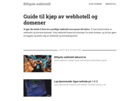 billigstewebhotell.com