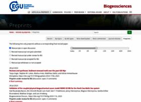 biogeosciences-discuss.net