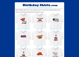 birthdayshirts.com