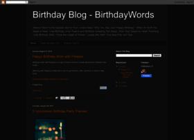 Birthdaywords.blogspot.com