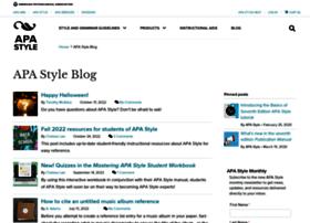 blog.apastyle.org