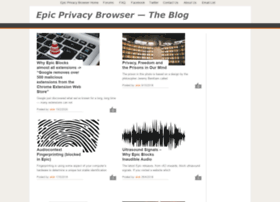 blog.epicbrowser.com