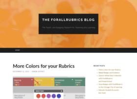 blog.forallrubrics.com
