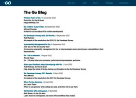 blog.golang.org