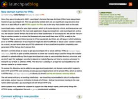 blog.launchpad.net