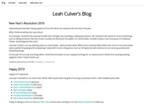 blog.leahculver.com