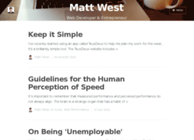 blog.mattwest.io