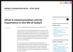 blog.nimblefoundation.org
