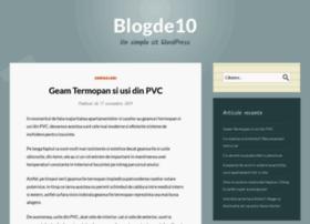 blogde10.ro