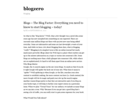 blogzero.net