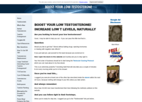 Boost Your Low Testosterone! Increase Low T Levels Naturally