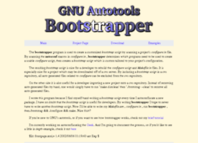 bootstrapper.sourceforge.net