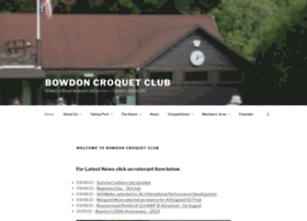 bowdoncroquet.co.uk