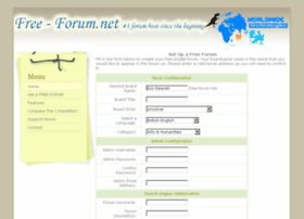 Free Forum.Net - Get *No Ads* Free PhpBB 3.0.8 forum hosting
