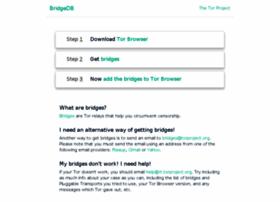 bridges.torproject.org