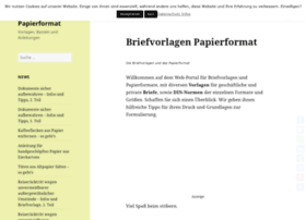 briefvorlagen-papierformat.de
