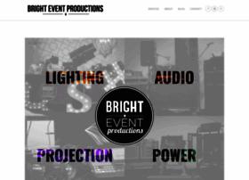 brighteventproductions.com