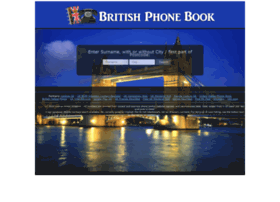 britishphonebook.com
