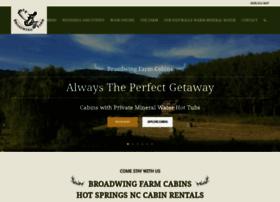 broadwingfarmcabins.com