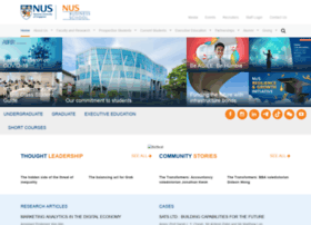 Bschool Nus Edu Sg National University Of Singapore Business
