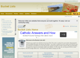 bucketlists.wikifoundry.com