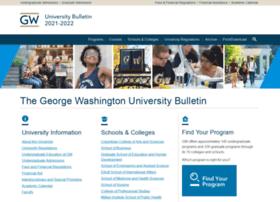 bulletin.gwu.edu