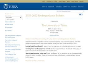bulletin.utulsa.edu