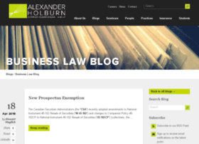 businesslawblog.ahbl.ca