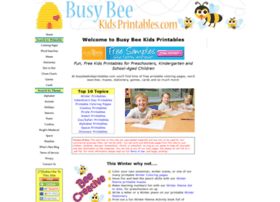 busybeekidsprintables.com info. Busy Bee Kids Printables