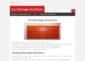 Storage Auctions in California Storage.