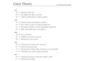 Caiustheory.com
