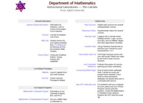 calclab.math.tamu.edu