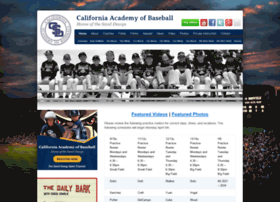 californiaacademyofbaseball.org