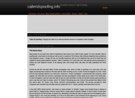 calleridspoofing.info