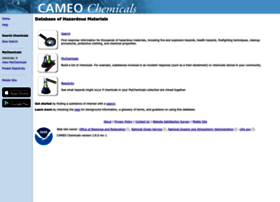 cameochemicals.noaa.gov